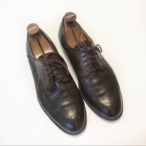 Mezlan Hudson Brown Leather Oxfords Sz 10.5 W